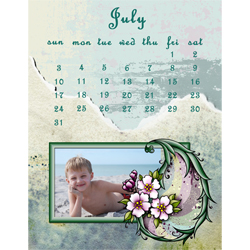 "Scrapbook template ""July 2011 #01"" in ""Calendars 2011"""