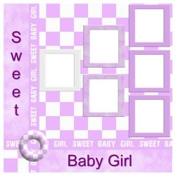 "Scrapbook template ""Sweet Baby Girl #2"" in ""Baby Scrapbooking"""