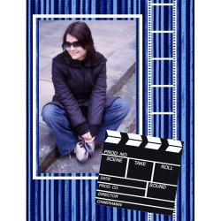 "Scrapbook template ""Cinema #03"" in ""Fan Pages"""