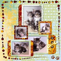 "Scrapbook template ""Cats Day #04"" in ""Pets"""