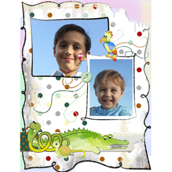 "Scrapbook template ""Funny zoo #19"" in ""Family"""