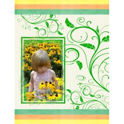 "Scrapbook template ""Nature #17"" in ""Nature"""
