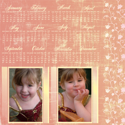 "Scrapbook template ""Calendar2009 #14"" in ""Calendars 2009"""