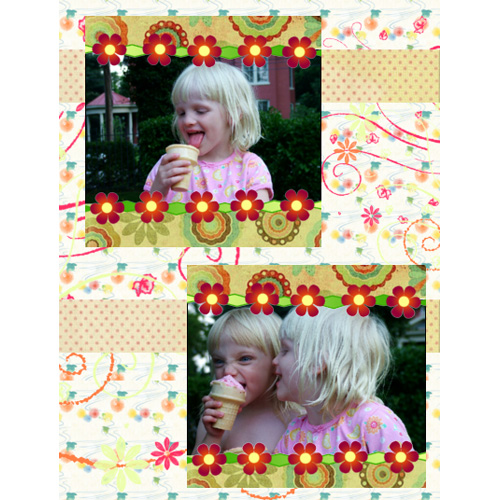 "Scrapbook template ""Friends #36"" in ""Friends Scrapbooking"""
