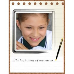 "Scrapbook template ""Career firsts #11"" in ""Firsts"""