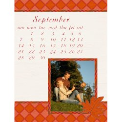 "Scrapbook template ""September #07"" in ""Calendars 2008"""