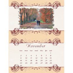 "Scrapbook template ""November #13"" in ""Calendars 2008"""