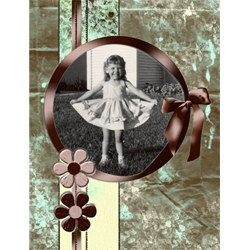 "Scrapbook template ""Shabby chic #17"" in ""Shabby chic"""
