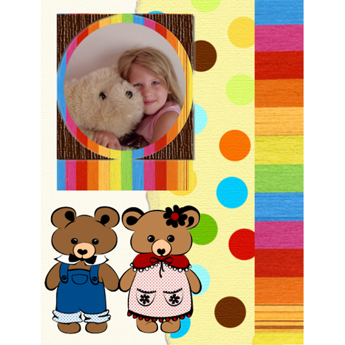 "Scrapbook template ""Toy Store #15"" in ""Baby Scrapbooking"""