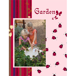 "Scrapbook template ""Garden #17"" in ""Nature"""