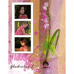 "Scrapbook template ""Spring flowers #07"" in ""Spring"""