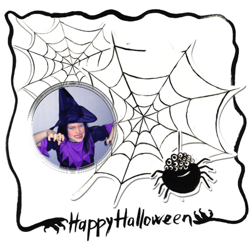 "Scrapbook template ""Painted Halloween #02"" in ""Halloween"""