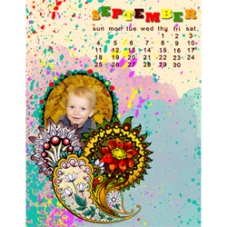 "Scrapbook template ""September #01"" in ""Calendars 2011"""