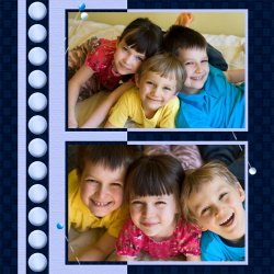 "Scrapbook template ""Friends #20"" in ""Friends Scrapbooking"""