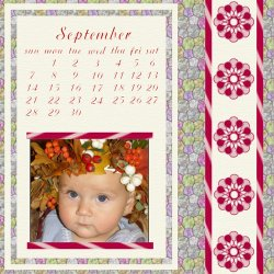 "Scrapbook template ""September #06"" in ""Calendars 2008"""
