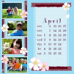 "Scrapbook template ""April #02"" in ""Calendars 2008"""