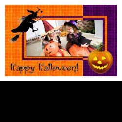 "Scrapbook template ""PhotoMix Little Witch #5"" in ""Halloween"""