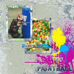 "Scrapbook template ""Paintball #02"" in ""Sport"""