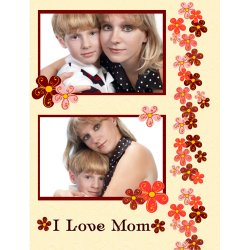 "Scrapbook template ""Mothers Day #16"" in ""Mother`s Day"""