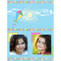 "Scrapbook template ""Summer #20"" in ""Summer Vacation"""