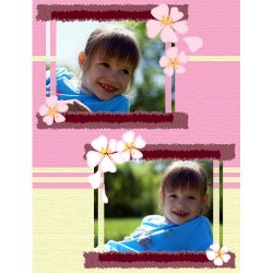 "Scrapbook template ""Spring #19"" in ""Spring"""