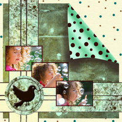 "Scrapbook template ""Shabby chic #20"" in ""Shabby chic"""