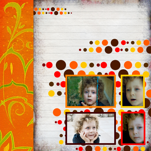 "Scrapbook template ""Fall #20"" in ""Fall"""