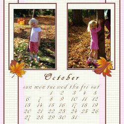"Scrapbook template ""October #10"" in ""Calendars 2008"""