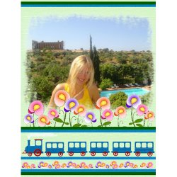 "Scrapbook template ""Travel #01"" in ""Travel"""