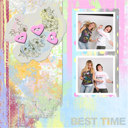 "Scrapbook template ""Teenagers #14"" in ""Teenagers"""