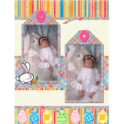 "Scrapbook template ""Easter #37"" in ""Easter"""