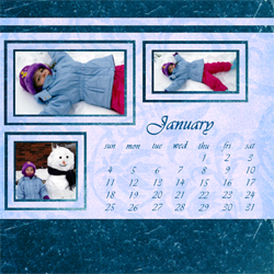 "Scrapbook template ""January #16"" in ""Calendars 2009"""