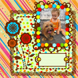 "Scrapbook template ""Family #14"" in ""Family"""