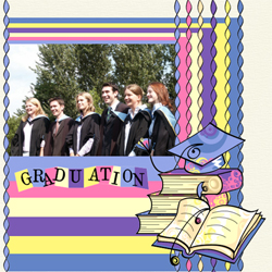 "Scrapbook template ""Graduation #10"" in ""Graduation"""