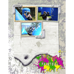 "Scrapbook template ""Paintball #05"" in ""Sport"""