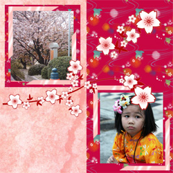 "Scrapbook template ""Japan #02"" in ""Travel"""