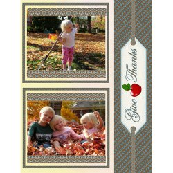"Scrapbook template ""Thanksgiving #11"" in ""Thanksgiving"""