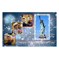 "Scrapbook template ""Independence Day Card #5"" in ""Independence"""