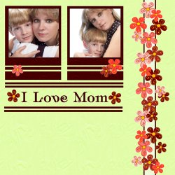 "Scrapbook template ""Mothers Day #13"" in ""Mother`s Day"""