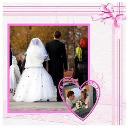 "Scrapbook template ""Wedding #6"" in ""Wedding Scrapbooking Templates"""