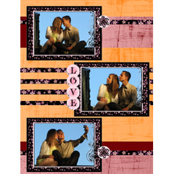 "Scrapbook template ""Love #07"" in ""Love Scrapbooking"""