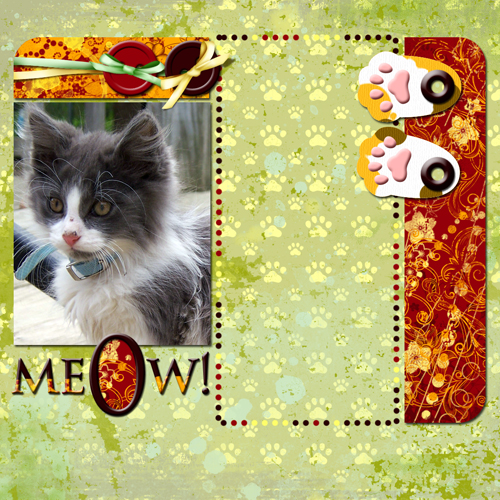"Scrapbook template ""Cats Day #02"" in ""Pets"""