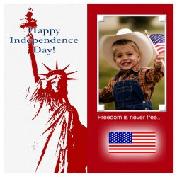 "Scrapbook template ""Independence Day #8"" in ""Independence"""