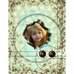 "Scrapbook template ""Shabby chic #01"" in ""Shabby chic"""