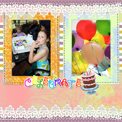 "Scrapbook template ""Birthday party #10"" in ""Birthday Scrapbooking"""