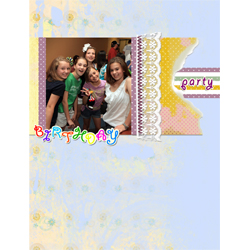 "Scrapbook template ""Birthday party #05"" in ""Birthday Scrapbooking"""