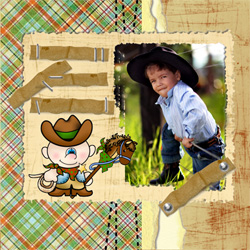 "Scrapbook template ""Wild West #14"" in ""Travel"""