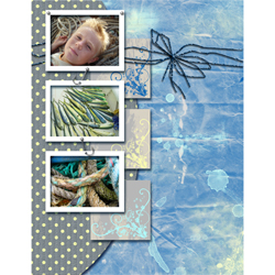 "Scrapbook template ""Fishing #09"" in ""Summer Vacation"""