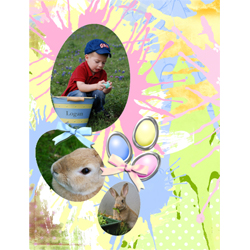 "Scrapbook template ""Easter 2010 #13"" in ""Easter"""