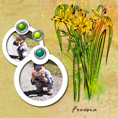 "Scrapbook template ""Spring flowers #06"" in ""Spring"""